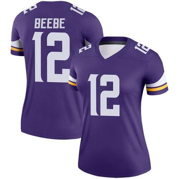 Women's Nike Minnesota Vikings Chad Beebe Purple Jersey - Legend
