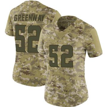 Women's Nike Minnesota Vikings Chad Greenway Green Camo 2018 Salute to Service Jersey - Limited
