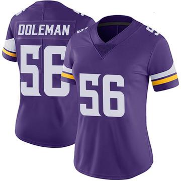 Women's Nike Minnesota Vikings Chris Doleman Purple 100th Vapor Jersey - Limited