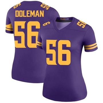Women's Nike Minnesota Vikings Chris Doleman Purple Color Rush Jersey - Legend