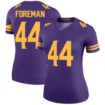 Women's Nike Minnesota Vikings Chuck Foreman Purple Color Rush Jersey - Legend