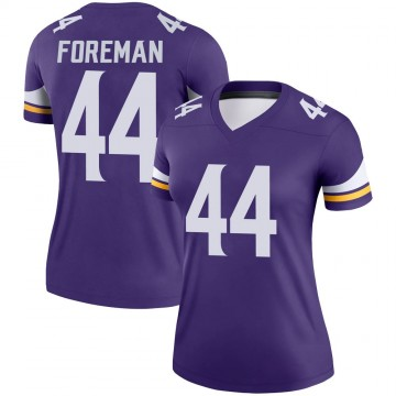 Women's Nike Minnesota Vikings Chuck Foreman Purple Jersey - Legend