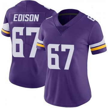 Women's Nike Minnesota Vikings Cornelius Edison Purple 100th Vapor Jersey - Limited