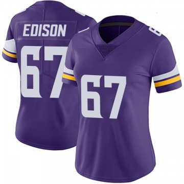 Women's Nike Minnesota Vikings Cornelius Edison Purple Team Color Vapor Untouchable Jersey - Limited