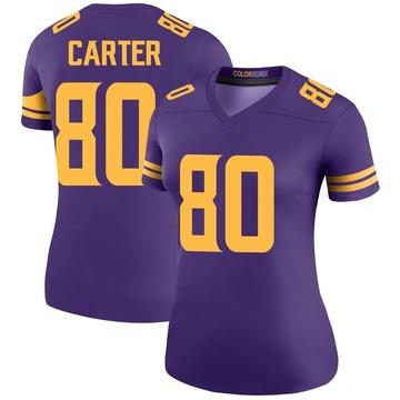 Women's Nike Minnesota Vikings Cris Carter Purple Color Rush Jersey - Legend