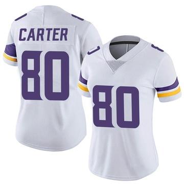 Women's Nike Minnesota Vikings Cris Carter White Vapor Untouchable Jersey - Limited