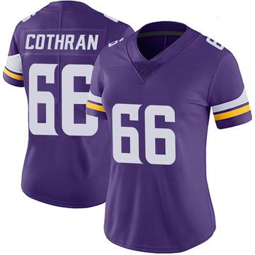 Women's Nike Minnesota Vikings Curtis Cothran Purple 100th Vapor Jersey - Limited