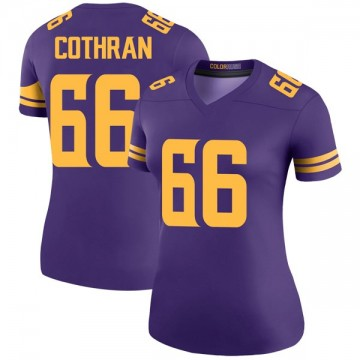 Women's Nike Minnesota Vikings Curtis Cothran Purple Color Rush Jersey - Legend