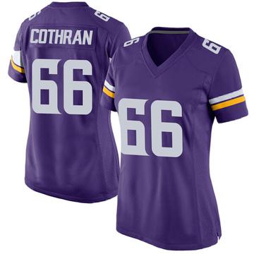Women's Nike Minnesota Vikings Curtis Cothran Purple Team Color Jersey - Game