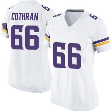 Women's Nike Minnesota Vikings Curtis Cothran White Jersey - Game