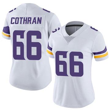 Women's Nike Minnesota Vikings Curtis Cothran White Vapor Untouchable Jersey - Limited