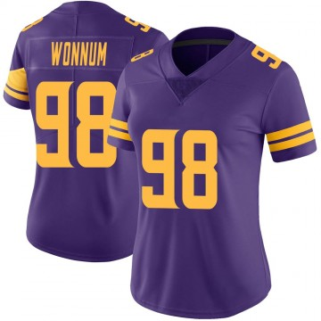 Women's Nike Minnesota Vikings D.J. Wonnum Purple Color Rush Jersey - Limited