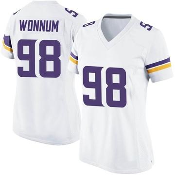 Women's Nike Minnesota Vikings D.J. Wonnum White Jersey - Game