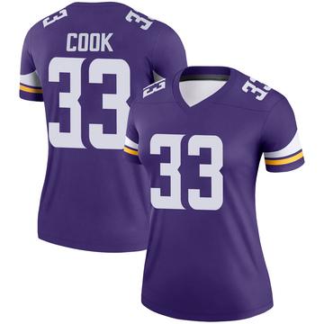 Women's Nike Minnesota Vikings Dalvin Cook Purple Jersey - Legend