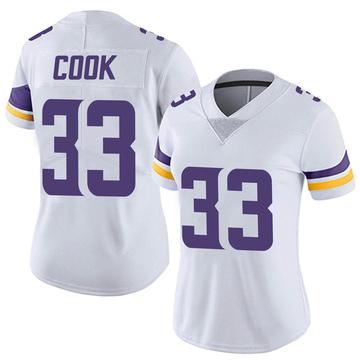 Women's Nike Minnesota Vikings Dalvin Cook White Vapor Untouchable Jersey - Limited