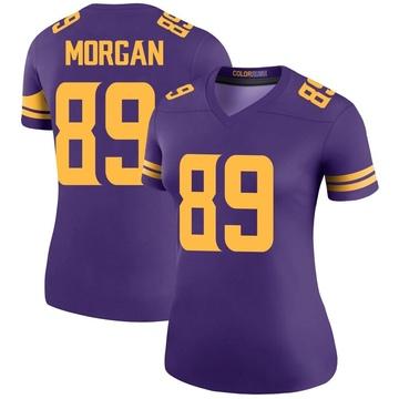 Women's Nike Minnesota Vikings David Morgan Purple Color Rush Jersey - Legend