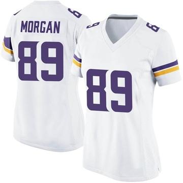 Women's Nike Minnesota Vikings David Morgan White Jersey - Game