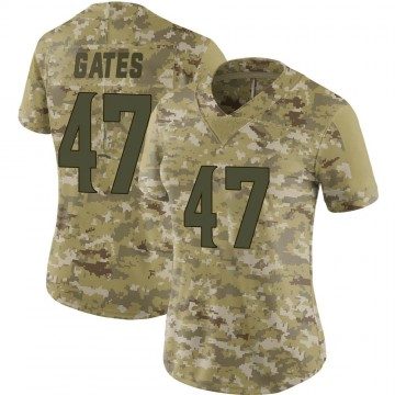 Women's Nike Minnesota Vikings DeMarquis Gates Camo 2018 Salute to Service Jersey - Limited