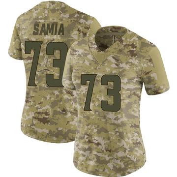 Women's Nike Minnesota Vikings Dru Samia Camo 2018 Salute to Service Jersey - Limited