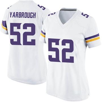 Women's Nike Minnesota Vikings Eddie Yarbrough White Jersey - Game
