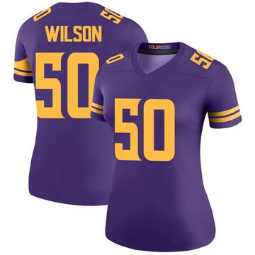 Women's Nike Minnesota Vikings Eric Wilson Purple Color Rush Jersey - Legend