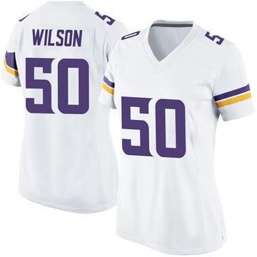 Women's Nike Minnesota Vikings Eric Wilson White Jersey - Game