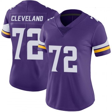 Women's Nike Minnesota Vikings Ezra Cleveland Purple 100th Vapor Jersey - Limited