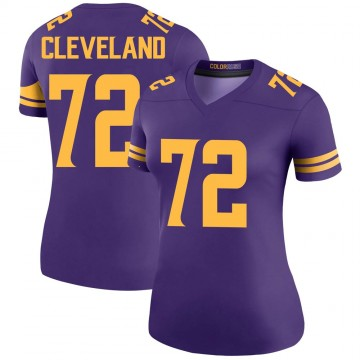 Women's Nike Minnesota Vikings Ezra Cleveland Purple Color Rush Jersey - Legend