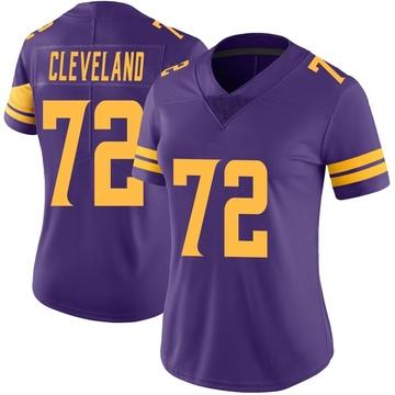 Women's Nike Minnesota Vikings Ezra Cleveland Purple Color Rush Jersey - Limited