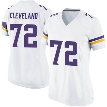Women's Nike Minnesota Vikings Ezra Cleveland White Jersey - Game