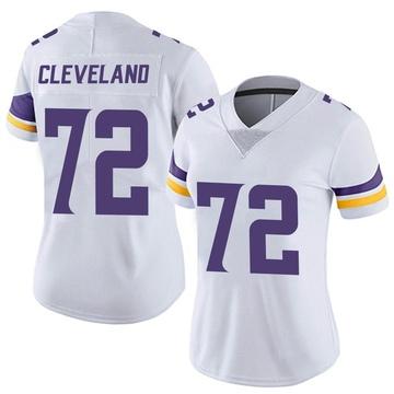 Women's Nike Minnesota Vikings Ezra Cleveland White Vapor Untouchable Jersey - Limited