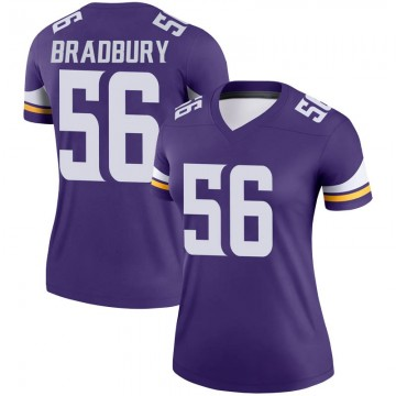 Women's Nike Minnesota Vikings Garrett Bradbury Purple Jersey - Legend