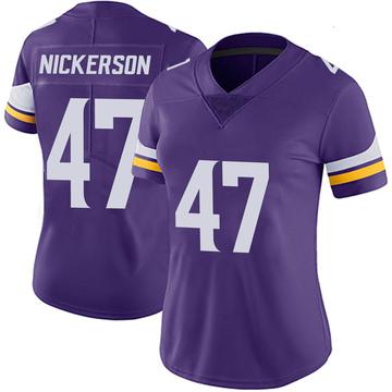 Women's Nike Minnesota Vikings Hardy Nickerson Purple 100th Vapor Jersey - Limited