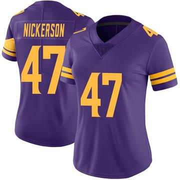Women's Nike Minnesota Vikings Hardy Nickerson Purple Color Rush Jersey - Limited