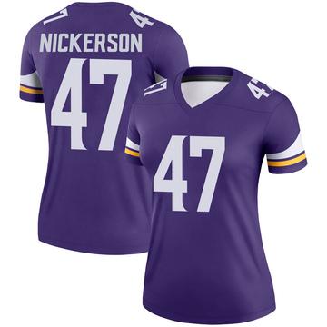 Women's Nike Minnesota Vikings Hardy Nickerson Purple Jersey - Legend