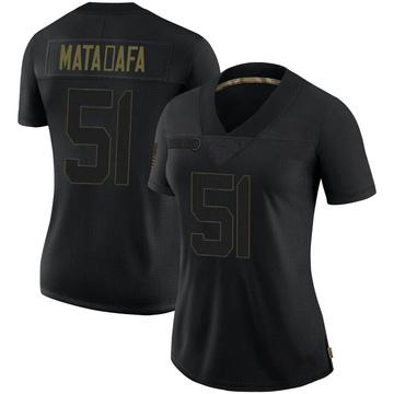 Women's Nike Minnesota Vikings Hercules Mata'afa Black 2020 Salute To Service Jersey - Limited