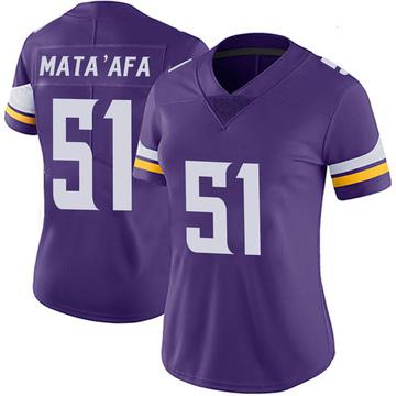 Women's Nike Minnesota Vikings Hercules Mata'afa Purple 100th Vapor Jersey - Limited