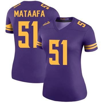 Women's Nike Minnesota Vikings Hercules Mata'afa Purple Color Rush Jersey - Legend