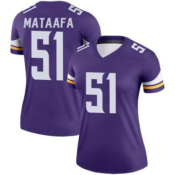 Women's Nike Minnesota Vikings Hercules Mata'afa Purple Jersey - Legend