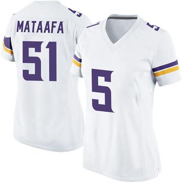 Women's Nike Minnesota Vikings Hercules Mata'afa White Jersey - Game