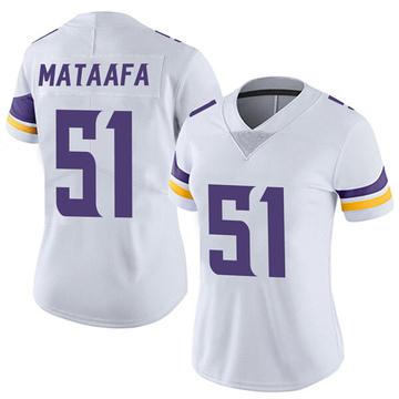Women's Nike Minnesota Vikings Hercules Mata'afa White Vapor Untouchable Jersey - Limited