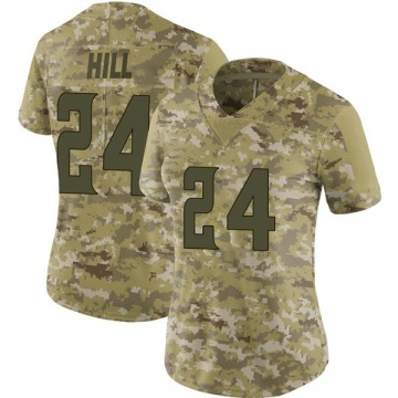 Women's Nike Minnesota Vikings Holton Hill Camo 2018 Salute to Service Jersey - Limited