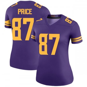Women's Nike Minnesota Vikings Jabari Price Purple Color Rush Jersey - Legend