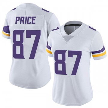 Women's Nike Minnesota Vikings Jabari Price White Vapor Untouchable Jersey - Limited