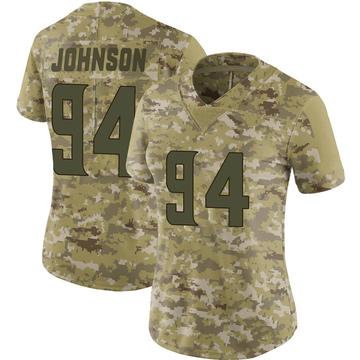 Women's Nike Minnesota Vikings Jaleel Johnson Camo 2018 Salute to Service Jersey - Limited
