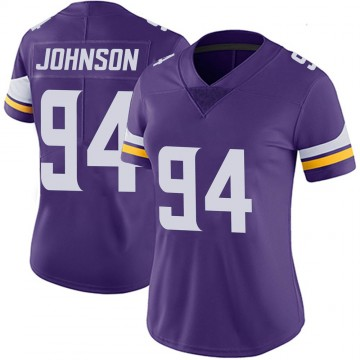 Women's Nike Minnesota Vikings Jaleel Johnson Purple 100th Vapor Jersey - Limited