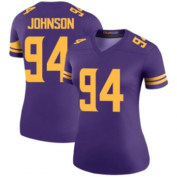 Women's Nike Minnesota Vikings Jaleel Johnson Purple Color Rush Jersey - Legend