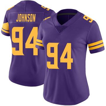 Women's Nike Minnesota Vikings Jaleel Johnson Purple Color Rush Jersey - Limited