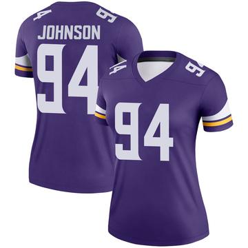 Women's Nike Minnesota Vikings Jaleel Johnson Purple Jersey - Legend
