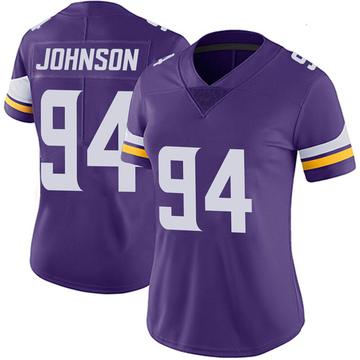 Women's Nike Minnesota Vikings Jaleel Johnson Purple Team Color Vapor Untouchable Jersey - Limited